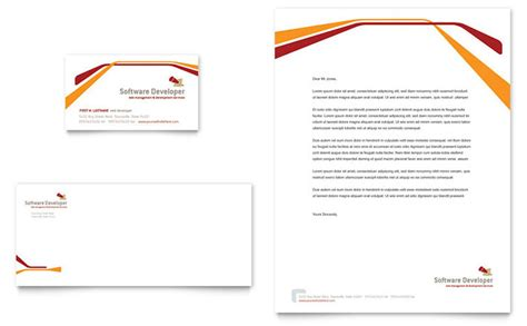 letterhead layout template software developer business card letterhead template design