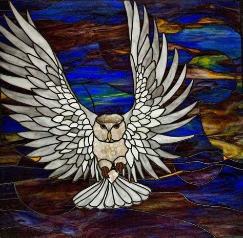 stained glass owl l 141 best images about stained glass owls eagles on