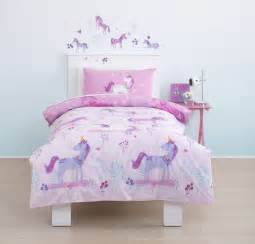 Toddler Cot Bed Bedding Set Magical Unicorn Toddler Cot Bed Duvet