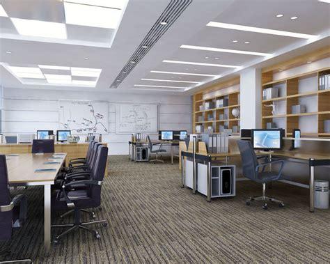 library interior design desk 3d house free 3d house 3d model detailed office interior scene cgtrader