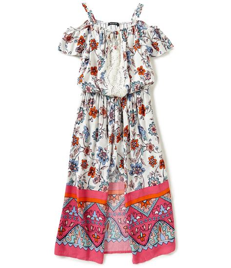 16 So Floral Turquoise Rompers takara big 7 16 floral print the shoulder maxi romper dillards