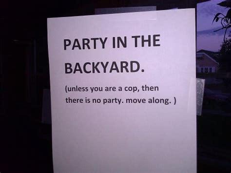 party in the backyard party in the backyard joke overflow joke archive