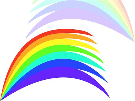 Rainbow Template Clipart Best Rainbow Powerpoint Template Free