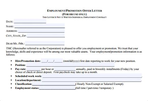 Offer Letter Promotion Sle Sle Promotion Letter 8 Free Documents In Pdf