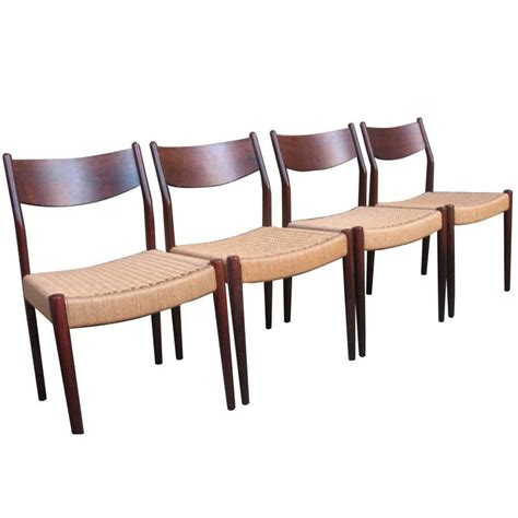 Rosewood Chairs For Sale by Solid Rosewood Moller Chairs For Sale At 1stdibs