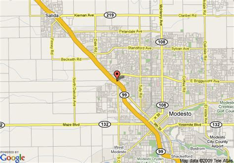 map of modesto california map of ramada inn modesto modesto
