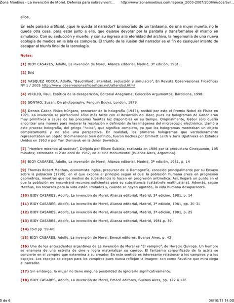 la invencin de morel b00983rvei la invenci 243 n de morel defensa para sobrevivientes por