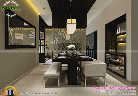 dining kitchen wash area interior kerala home design
