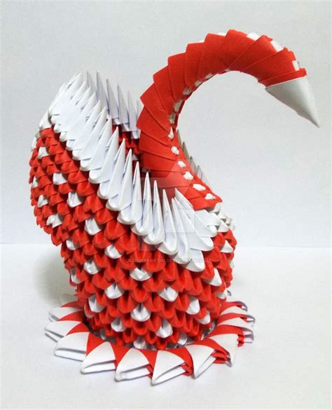 3d Origami Paper Folding - 3d origami swan 2 by designermetin on deviantart