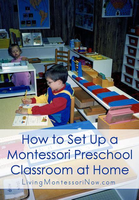 how to set up a montessori preschool classroom at home