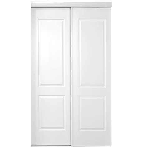 Interior Closet Doors Shop Reliabilt White Steel Sliding Closet Interior Door With Hardware Common 48 In X 80 In