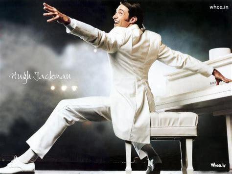 hugh jackman white suit  play white piano wallpaper
