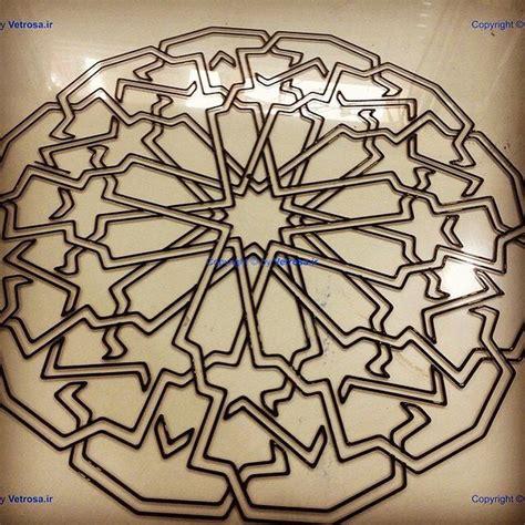 islamic pattern glass استن گلاس تیفانی درب پنجره ارسی گره چینی شیشه رنگی