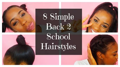 hairstyles for black short hair for school 8 simple back 2 school hairstyles for short straight hair