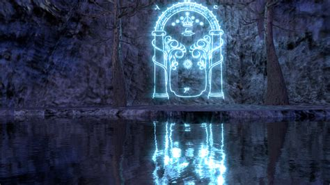 Magic Gate Of Moria Lord Of The Ring The Hobbit Tshirt nueva puerta de moria new gate of moria by ednock on deviantart