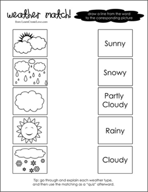 weather patterns worksheet pdf weather match printable