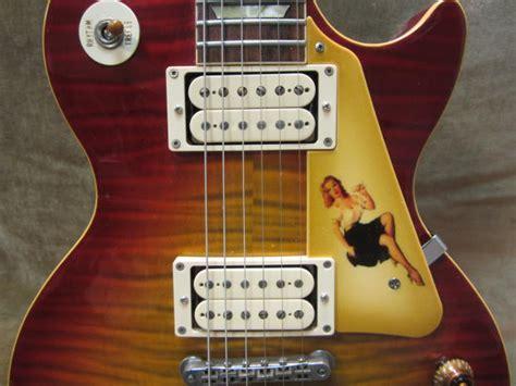 Murah Pickguard Gibson Lespaul Std Black gibson les paul std custom shop 50 s pin up lacquer