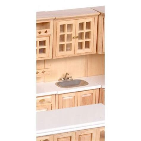 dollhouse kitchen cabinets cabinet w sink oak dollhouse kitchen cabinets superior