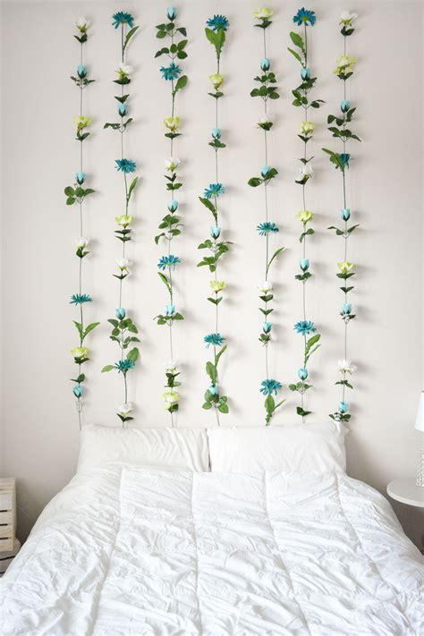 Wall To Wall Headboard by Diy Flower Wall Headboard Home Decor Sweet Teal
