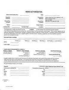 additional work authorization template work authorization form 69115213 png letterhead template