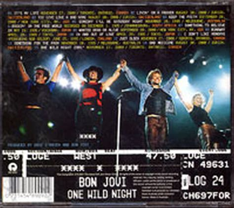 Cd Bon Jovi One Live 1985 2001 Cetakan Pertama bon jovi one live 1985 2001 album cd records