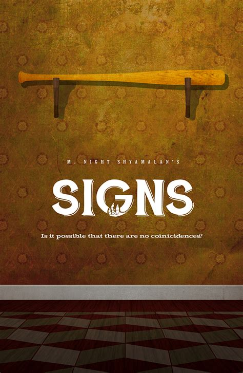 signs movie swing away quot signs quot vintage minimalist movie poster on behance