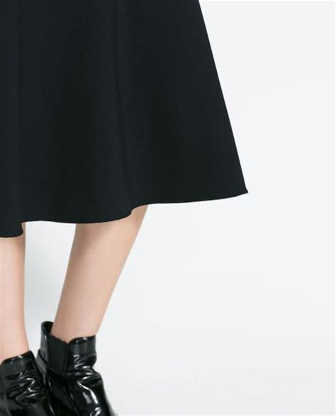 zara high waist mermaid skirt in black lyst