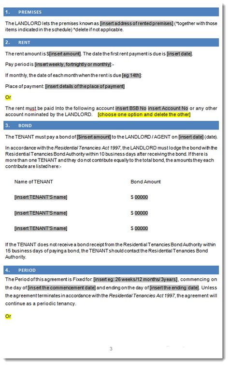 residential tenancy rental lease agreement victoria