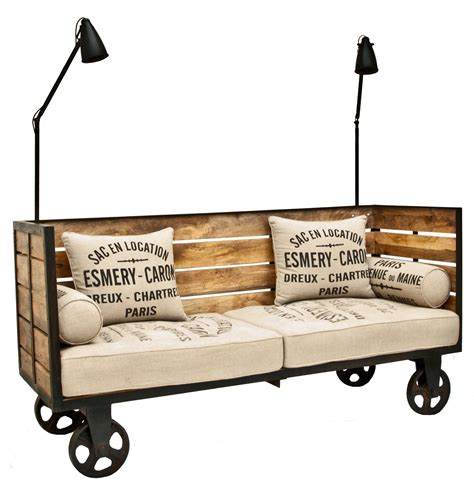 bed on wheels industrial vintage theme decor for home renovation