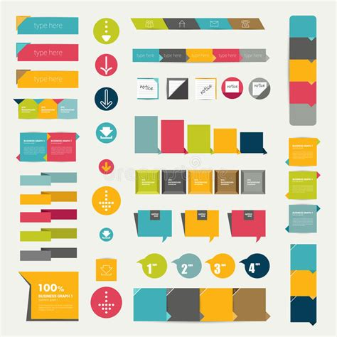 print or web color combinations stock image image collections of infographics flat design diagrams stock