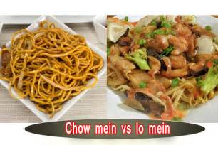 pics for gt difference between lo mein and chow mein