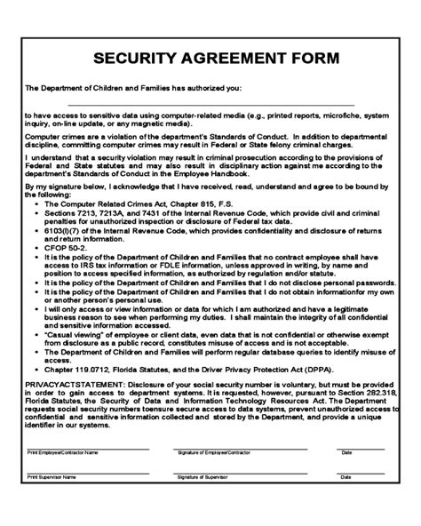 security agreement template 2018 security agreement form fillable printable pdf