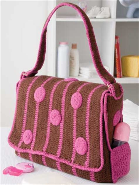 free crochet pattern baby bag crochet purse patterns polka dot diaper bag free