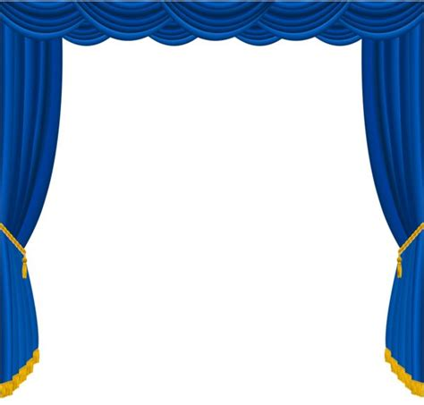 Theater Home Decor by Blue Stage Curtains Clipart 62