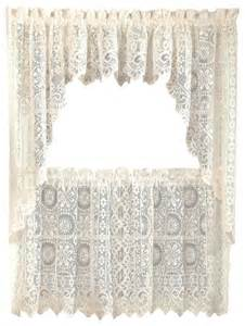 Kitchen Lace Curtains Hopewell Lace Kitchen Curtain Traditional Curtains By Linens4less