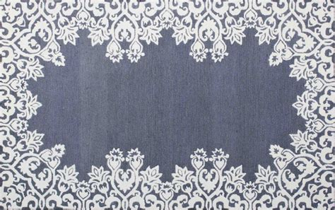 floral area rugs 5x8 shop houzz colorromance laguna blue white 5x8 floral style wool area rug rugs