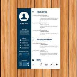 Curriculum Vitae Templates Word by Curriculum Template Design Vector Free Download