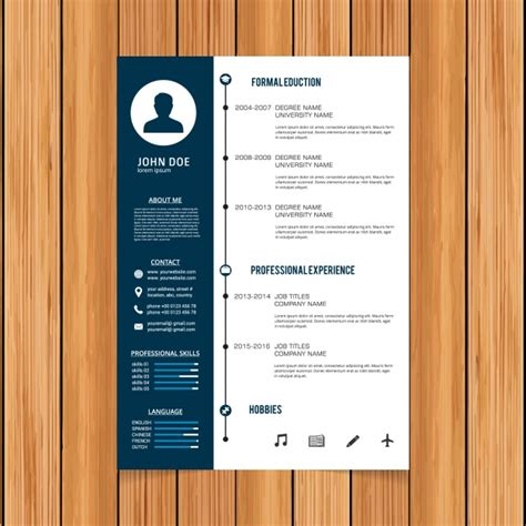 Curriculum Template by Curriculum Template Design Vector Free