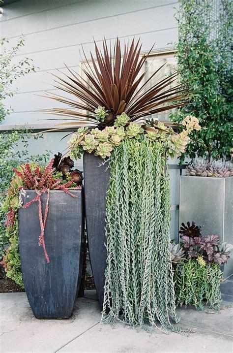 plantas patio interior oscuro 1001 ideas de decoraci 243 n de jard 237 n con maceteros grandes