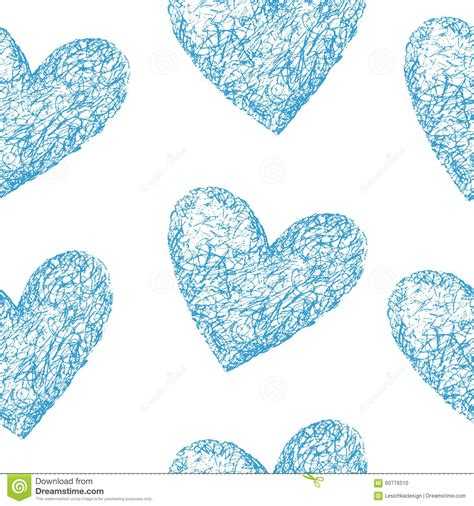 pattern blue heart blue hearts seamless pattern stock vector image 60776510