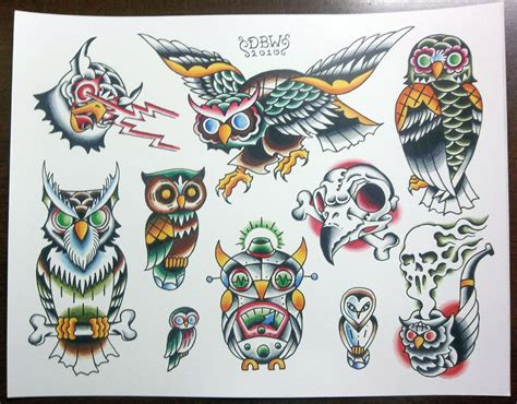 tattoo flash flash printed sheet models picture