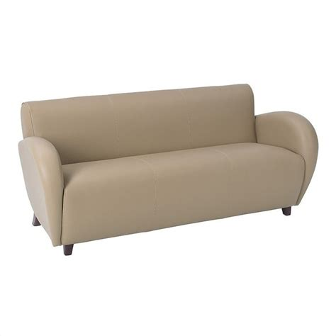 Taupe Leather Sofa Eleganza Eco Leather Sofa In Taupe Sl2473ec11