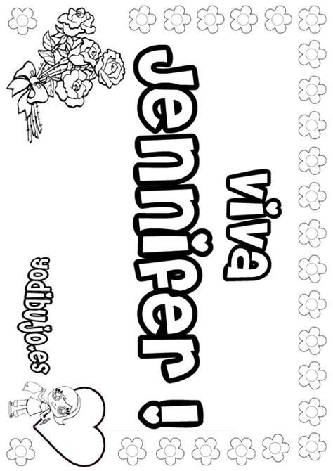 imagenes que digan jennifer dibujos para colorear jennifer es hellokids com
