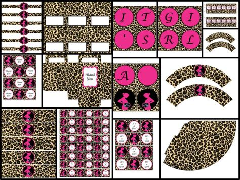 themes line hello kitty leopard printable baby shower decorations leopard by