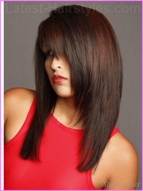 hairstyles for long straight hair with layers and bangs layered haircuts for long hair straight stylesstar com