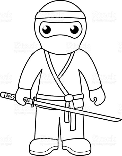 black ninja coloring pages ninja coloring page for kids stock vector art more