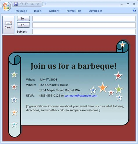 e invite template free printable invitations of e mail bbq invitation