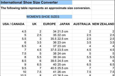 international shoe size chart size chart free premium templates forms