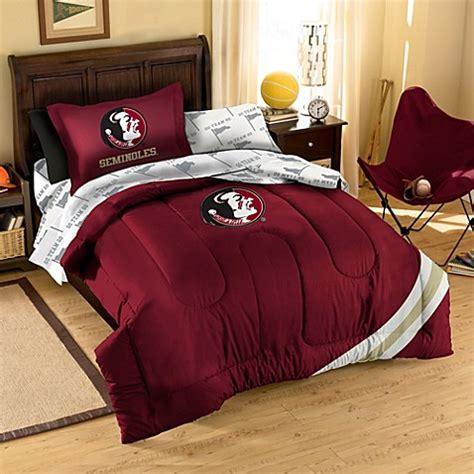 Syracuse Bedding Sets Florida State School Logo Applique Bedding Set Bed Bath Beyond