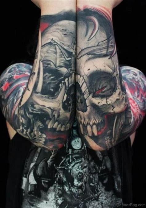 67 classic skull tattoos for sleeve